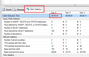 Show Query Execution Time Client Stats