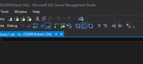 SQL Server Management Studio Dark Theme Dark